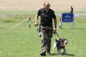 Exercices d'hélitreuillage pour les chiens de la gendarmerie